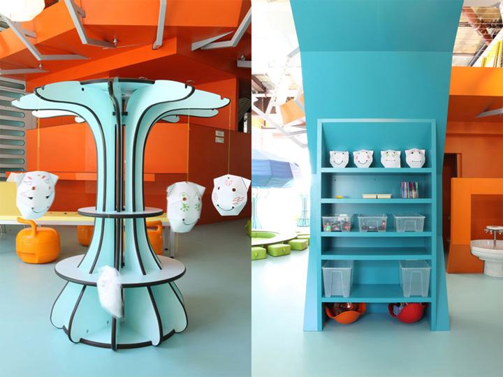 Colourful room designed for children