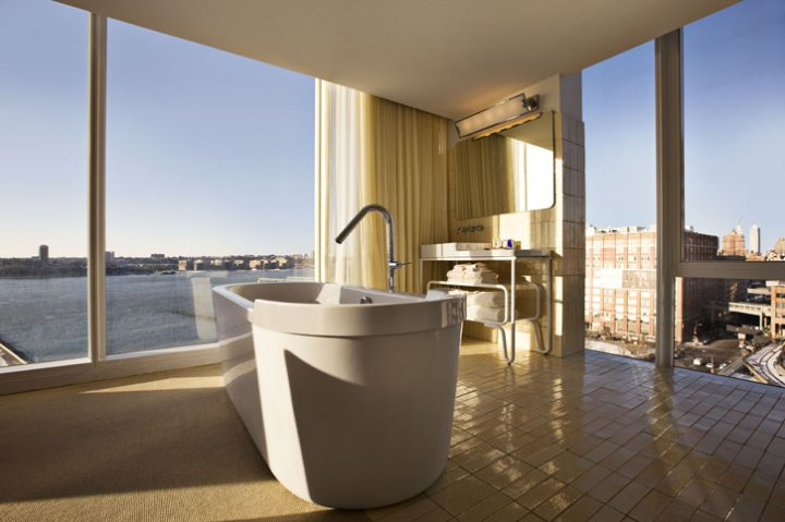 West facing bathroom with view | photo Courtesy of The Standard, New York